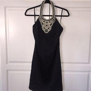 Exquisite Trina Turk silk holiday dress